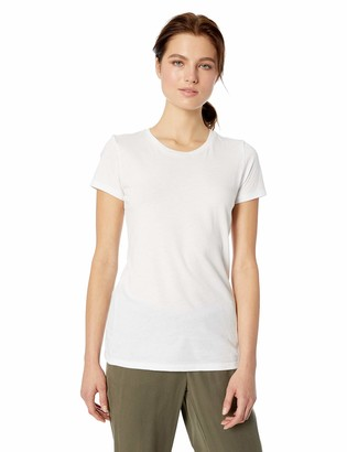 Daily Ritual Amazon Brand Women's Featherweight Cotton Short-Sleeve Crew Neck T-Shirt