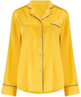 Sleepy Wilson Aurelie Silk Pyjama Shirt In Honeybee
