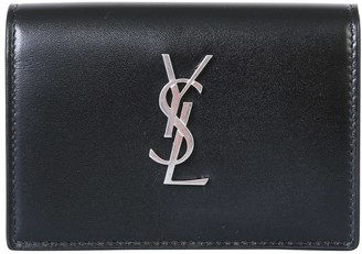 Saint Laurent Monogram Business Card Holder