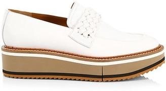 Clergerie Baldie Leather Platform Derby Shoes