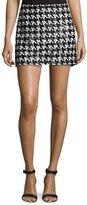 Rachel Zoe Sara Houndstooth Lace Skirt, Black/White