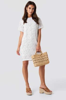 NA-KD Round Dotted Mini Dress White