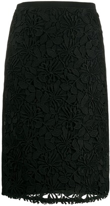 No.21 Lace Pencil Skirt