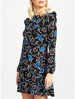People Tree Marika Floral Print Dress, Black
