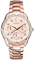 Bulova Daimond Set Chronograph Bracelet Watch