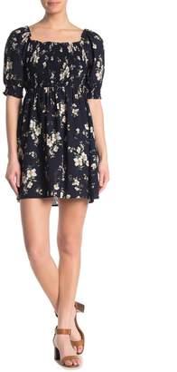 Sweet Rain Elbow Sleeve Floral Dress