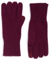 Halogen Women's Rib Knit Cashmere Gloves