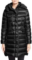 Moncler Women's 'Hermine' Grosgrain Trim Water Resistant Down Coat
