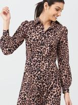 Very Printed Shirt Dress - Animal Print