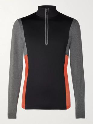 Bogner Camilo Slim-Fit Logo-Print Colour-Block Stretch-Jersey Half-Zip Ski Base Layer