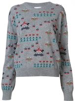 Barrie Star Games All Over Embroidered Pullover