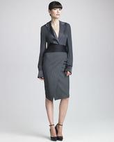 Donna Karan Pinstriped Envelope Skirt