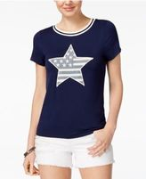Miss Chievous Juniors' American Flag Graphic T-Shirt