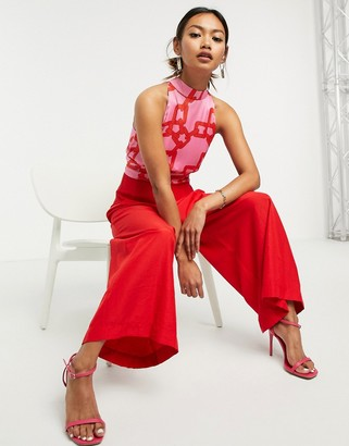 Traffic People high-neck jumpsuit in print