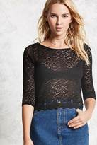 Forever 21 FOREVER 21+ Sheer Lace Top