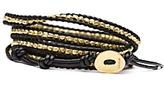Nugget Wrap Bracelet: Black