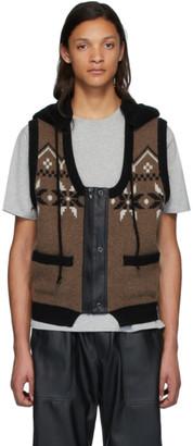 Gr Uniforma GR-Uniforma Brown Hoodie Vest