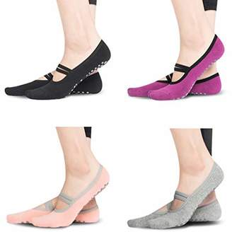 Gmall Women's Non-Slip Yoga Pilates Barre Hospital Gym Athletic Cotton Socks