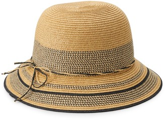 Sonoma Goods For Life Women's Striped Inset Cloche Hat