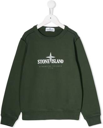 Stone Island Junior logo oversized sweatshirt