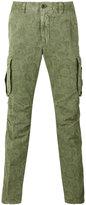 Incotex printed cargo trousers - men - Cotton/Linen/Flax - 30