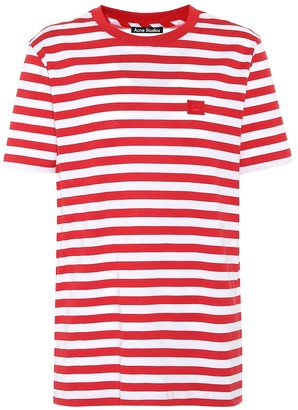 Acne Studios Face striped cotton-jersey T-shirt