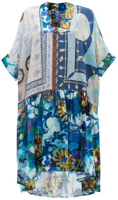 RIANNA + NINA Vintage Patchwork Silk Dress - Multi