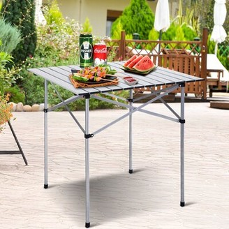 Roll up Portable Folding Camping Aluminum Picnic Table Maincraft