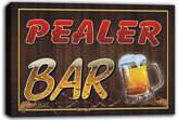 AdvPro Canvas scw3-047901 PEALER Name Home Bar Pub Beer Mugs Stretched Canvas Print Sign