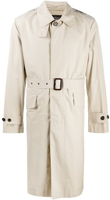 Stella McCartney Loose-Fit Check-Detail Trench
