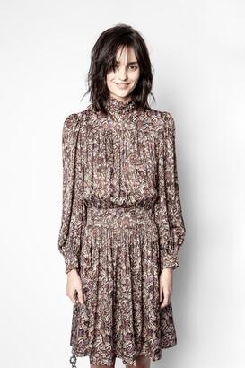 Zadig & Voltaire Reckon Satin Thorn Dress
