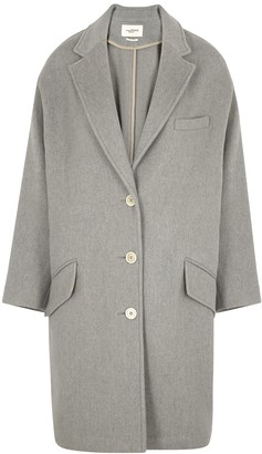 Etoile Isabel Marant Limi grey wool-blend coat