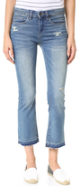 Blank Released Hem Cropped Jeans