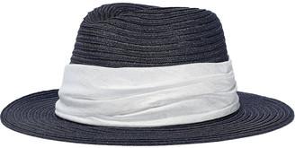 Eugenia Kim Lillian Satin-trimmed Hemp-blend Sun Hat