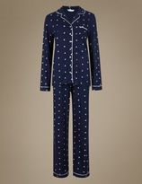 Marks and Spencer Daisy Print Revere Collar Pyjamas