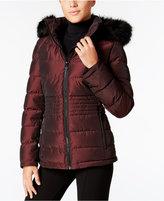 Calvin Klein Faux-Fur-Trim Water-Resistant Puffer Coat