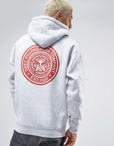 Obey Hoodie With Stamp Back Print