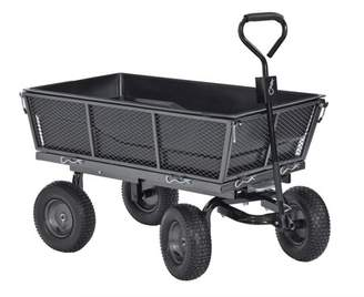 Edsal Muscle Carts Steel Dump Cart with Removable Sides and Full Bed Liner/Cover