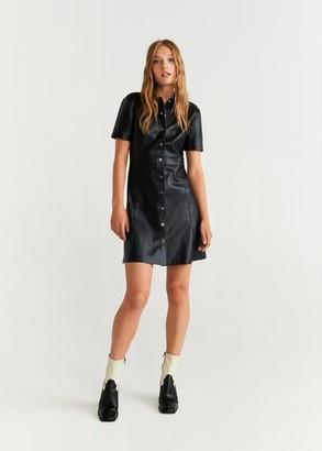 MANGO Snap shirtdress