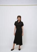 Zero Maria Cornejo black long twisted shirt dress