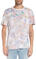 Eleven Paris Men's Elevenparis 'Famlicola' Reverse Print Crewneck T-Shirt