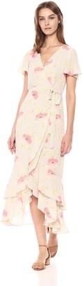 Rachel Roy Women's Shortsleeve Wrap Top Printed Midi Dress