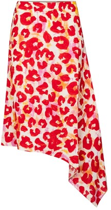 Marni Leopard-print sable midi skirt