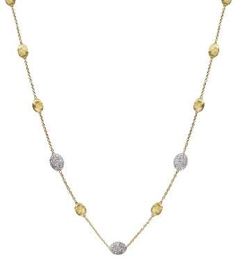 Marco Bicego Siviglia 18K Yellow Gold Necklace with Diamonds, 16.5""