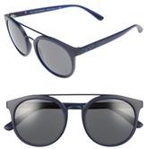 Burberry Women's 53Mm Round Sunglasses - Matte Blue