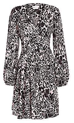 Milly Women's Gina Leopard Flare Dress