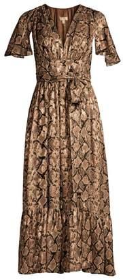 Michael Kors Ruffle Cape Midi Dress