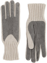 Barneys New York Women's Driving Gloves-LIGHT GREY