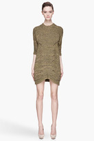 McQ by Alexander McQueen Green and khaki Ribbed Cable knit Dress