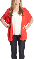Red Cutout-Back Open Cardigan